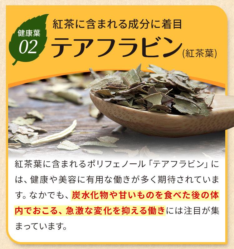 紅茶に含まれる成分に着目。テアフラビン(紅茶葉)